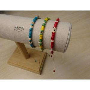 Braccelets en perles heishi