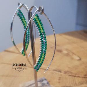 Boucles d'oreilles design en perles miyuki