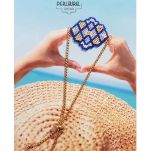 Bracelet-chaine- coulissante-bleu-logo