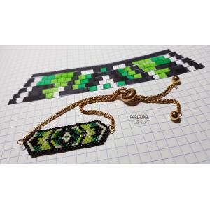Bracelet-chaine-coulissante-vert-logo