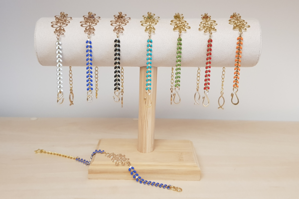 Bracelets épis avec fleurs
