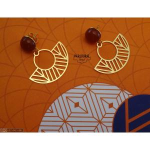 Boucles d'oreilles paon