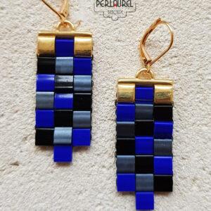 Boucles doreilles tila bleues