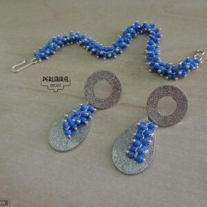 Bracelet et boucles d'oreilles chenille